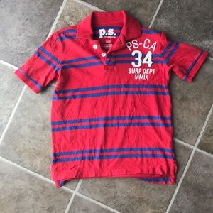 P.s. Aeropostale red surf polo size 8